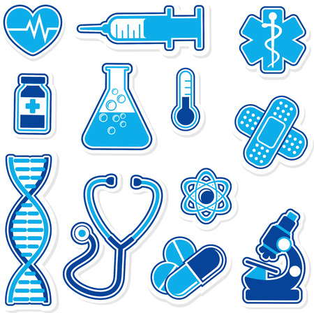 collection of medical icons designs isolated on white background Vector