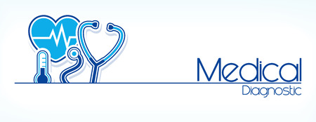 medical diagnostic flat design isolated on white background