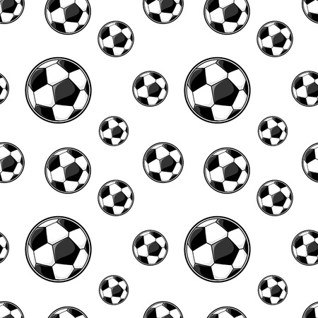 soccer balls seamless pattern for sports themes decoration Vector