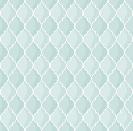 moroccan geometric seamless pattern in green tones