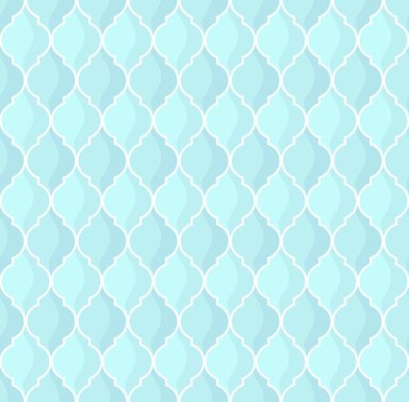 moroccan geometric seamless pattern in blue tones Illusztráció
