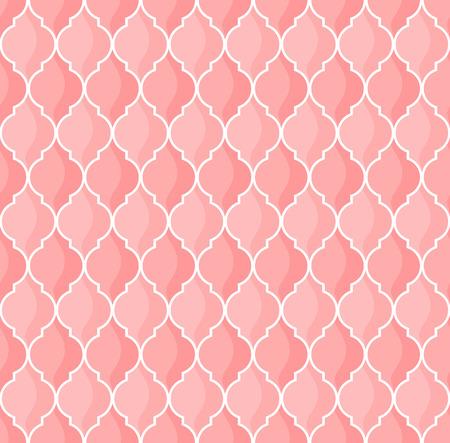 ピンクの色調でモロッコの幾何学的なシームレス パターン
