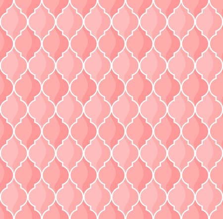 moroccan geometric seamless pattern in pink tones