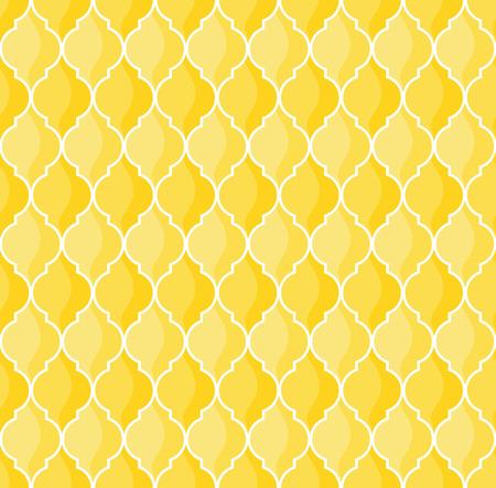 모로코 기하학적 원활한 패턴 노란색 톤 일러스트