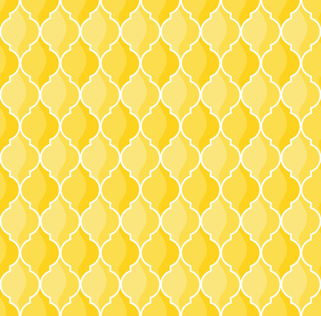 moroccan geometric seamless pattern in yellow tones