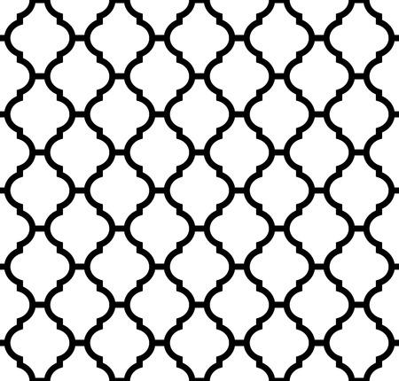 Modelo inconsútil marroquí en blanco y negro