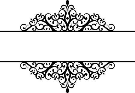 vignette: decorative vignette silhouette in black isolated on white background