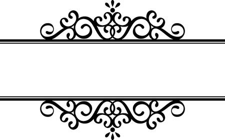 silueta ilustración decorativa en negro sobre fondo blanco Vectores