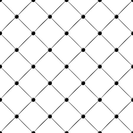 rhomb: padded upholstery buttoned rhomb seamless pattern in black and white