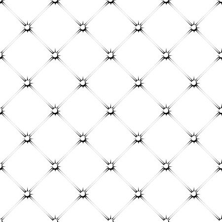 seamless pattern of padded upholstery buttoned rhomb in black and white Illustration