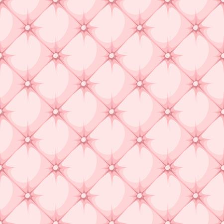 rhomb: pink padded upholstery buttoned rhomb seamless pattern