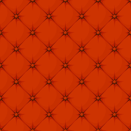 padding: red padded upholstery buttoned rhomb seamless pattern Illustration