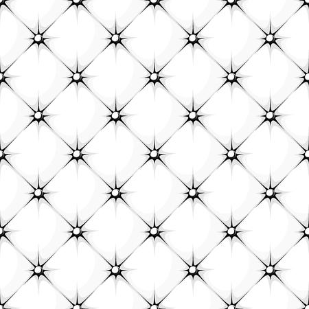 white padded upholstery buttoned rhomb seamless pattern Illustration