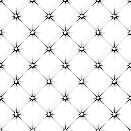 padding: white padded upholstery buttoned rhomb seamless pattern Illustration