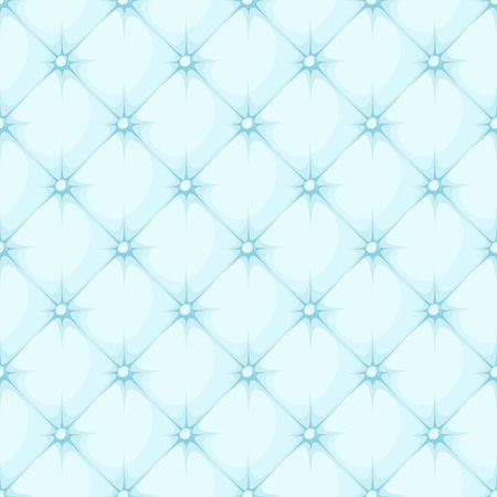 blue padded upholstery buttoned rhomb seamless pattern