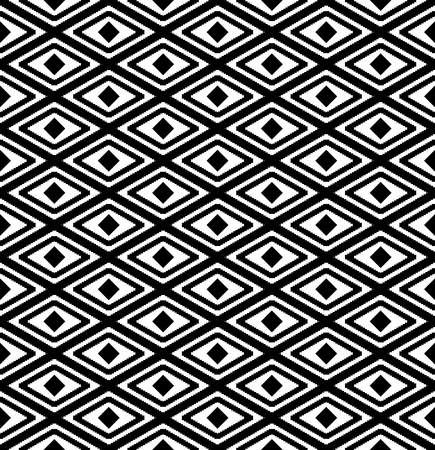 rhombus: abstract seamless pattern with rhombus in black and white