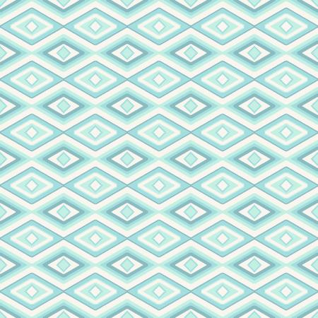 民族布スタイルのような菱形の抽象的なシームレス パターン  イラスト・ベクター素材