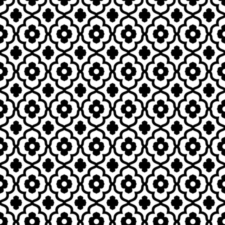 moroccan: moroccan style seamless pattern in black and white