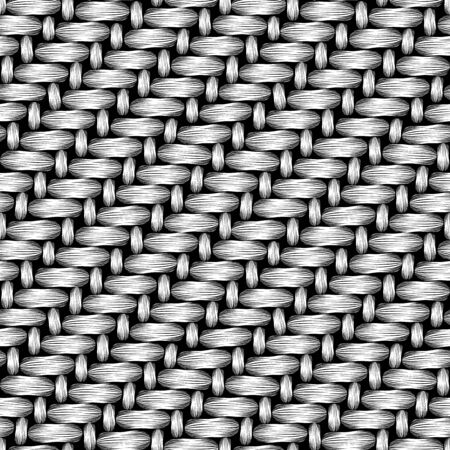 seamless pattern vector of knit fabric in black and white. can be tiled Illustration