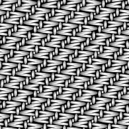 knitting textile fibers texture seamless pattern in black and white