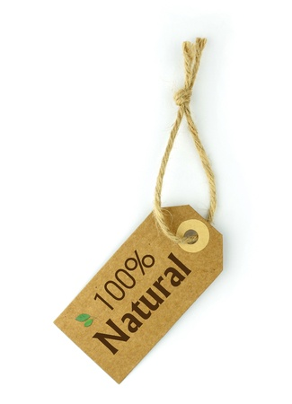 environmentalist label: 100% Natural Label Stock Photo
