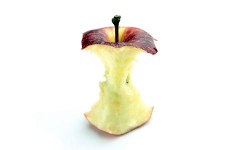 eaten: bitten apple