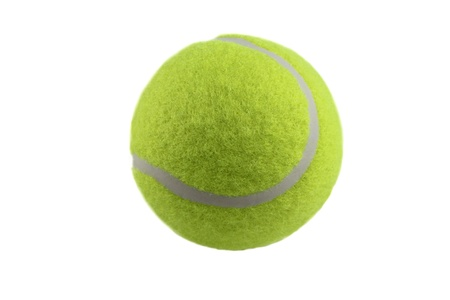 raquet: Tennis ball isolated on white background Stock Photo