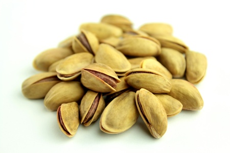 pistachios: Pistachio nut on white Stock Photo