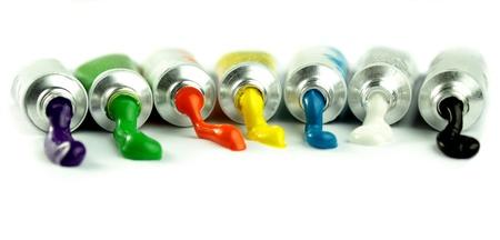 paint tube: Colors Stock Photo