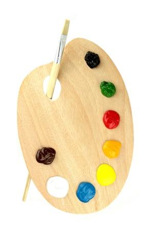 painter palette: Paint brushes, colors and pallet