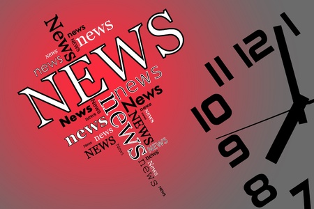 soft center: News and time and soft red background