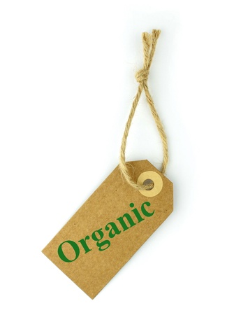 naturalistic: Label and green  Organic  text