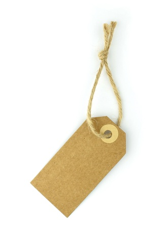 Natural paper label - vertical - Stock Photo