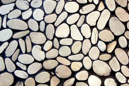 stone age: Stone wall background Stock Photo