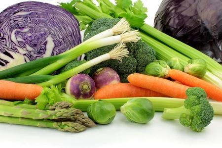 Vegetables on white background photo