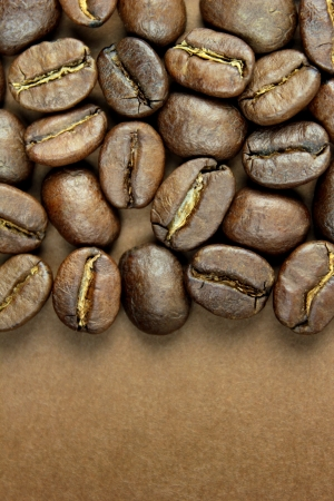 Coffee beans and space for text photo