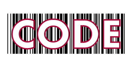 CODE  text , on barcode photo
