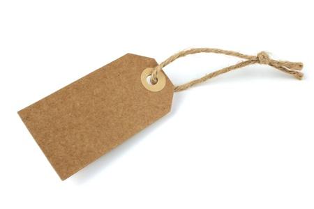 papier naturel: �tiquette en papier naturel vierge