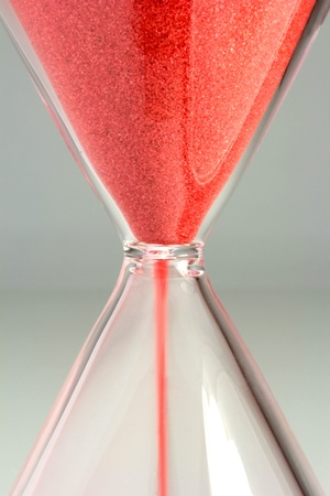 Red sand hourglass photo