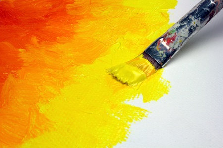 Abstract painting on canvas Stock Photo - 13012556