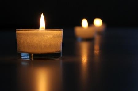 reflexion: Luz de las velas y la reflexi�n