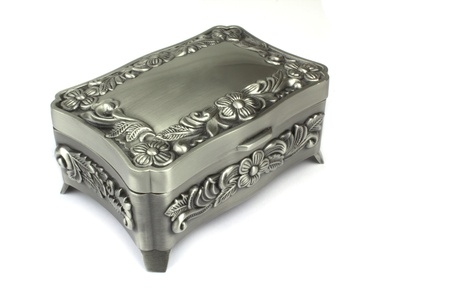 Jewelry box on white background  photo