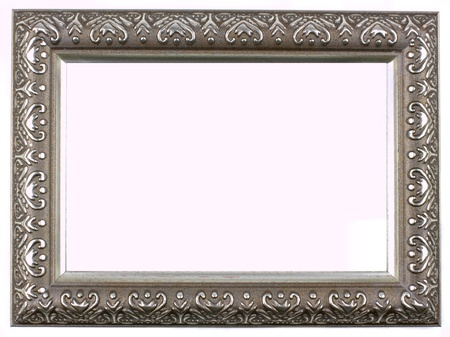 Antique silver picture frame with a decorative pattern Stock Photo - 13638359