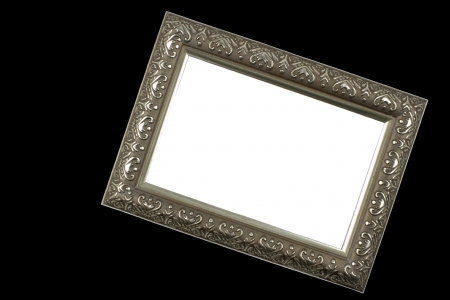 Antique silver picture frame photo