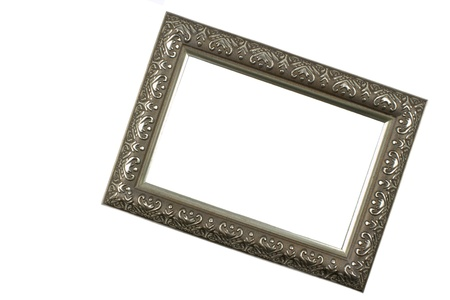 Antique silver picture frame Stock Photo - 13638332