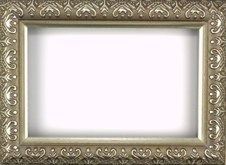 Antique silver picture frame with a decorative pattern Stock Photo - 13638360
