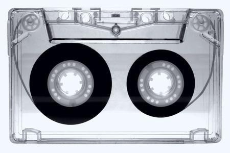 audio cassette: Audio cassette isolated on white background