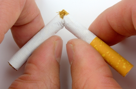 Stop smoking now Stock Photo