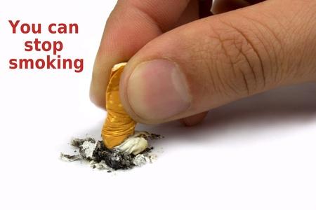 인내: 당신은 흡연을 중지 할 수 있습니다 스톡 사진
