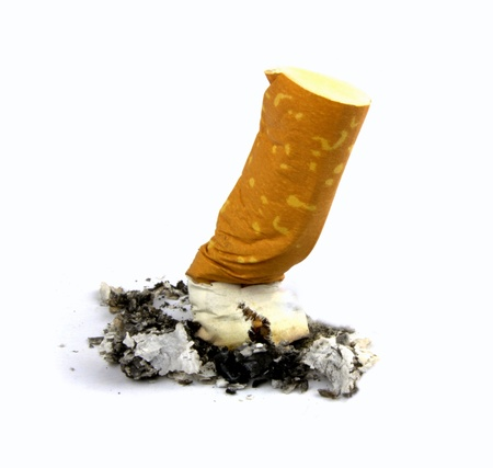 quit smoking: Cigarette butts